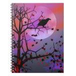 Noche del cuervo de Halloween Libreta