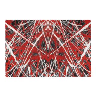 NOCHE del ~ de los ss del PALO (arte abstracto) Tapete Individual