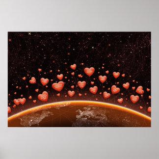 Noche del el día de San Valentín Posters
