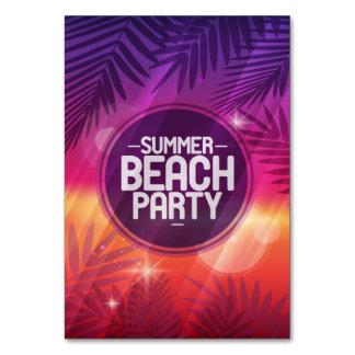 Noche del fiesta de la playa del verano