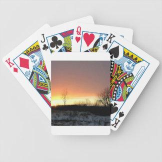 Noche del frío del resplandor del amarillo de la p baraja cartas de poker