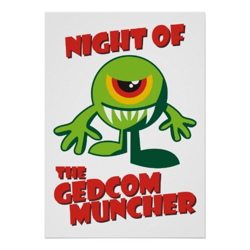 Noche del GEDCOM Muncher Poster