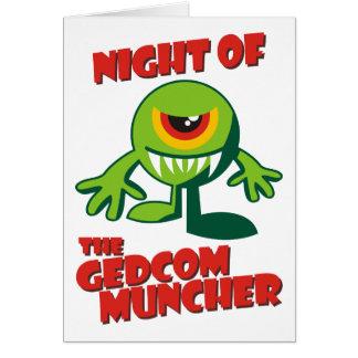 Noche del GEDCOM Muncher Tarjeta De Felicitación