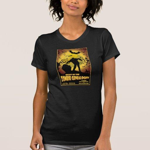 Noche del Genealogist del zombi Camiseta
