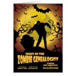 Noche del Genealogist del zombi Felicitaciones