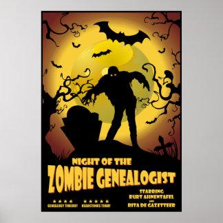 Noche del Genealogist del zombi Poster