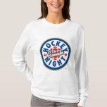 Noche del hockey en el logotipo de Canadá Playera
