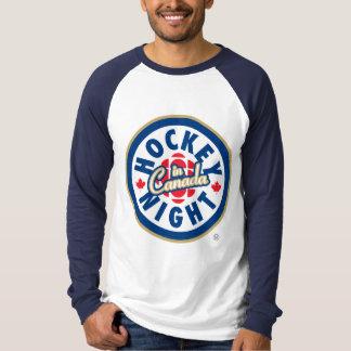 Noche del hockey en el logotipo de Canadá Remera