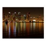 Noche del horizonte de San Diego Tarjeta Postal