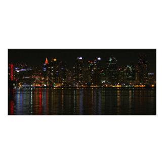Noche del horizonte de San Diego Tarjeta Publicitaria A Todo Color
