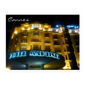 noche del hotel de Cannes Tarjetas Postales