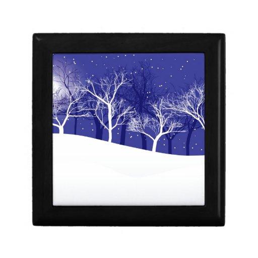 Noche del invierno caja de regalo