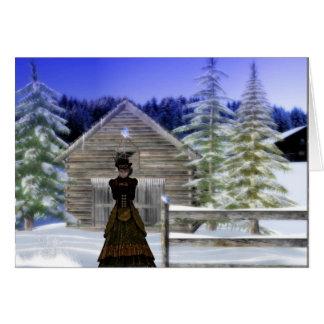 Noche del invierno tarjeta de felicitación