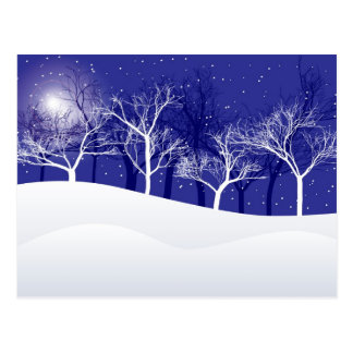 Noche del invierno postales