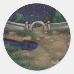 Noche del jardín pegatinas redondas