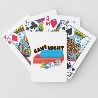 Noche del juego baraja