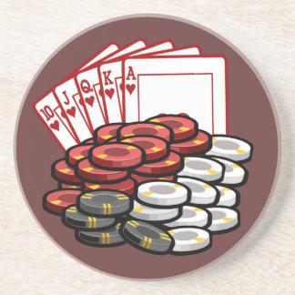 Noche del juego de póker posavasos diseño
