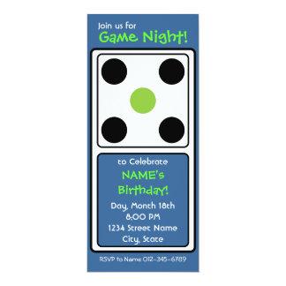 """¡Noche del juego! Invitación 4"""" X 9.25"""""""