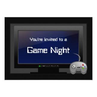 Noche del juego invitación video del fiesta del j