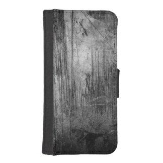 NOCHE DEL METAL DEL GRUNGE FUNDA TIPO BILLETERA PARA iPhone 5