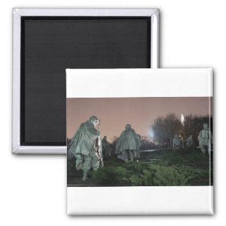 Noche del monumento de Washington del monumento de Imán Cuadrado
