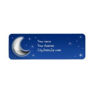 noche del moonglow etiqueta de remite