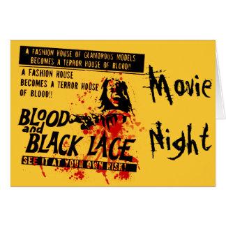Noche del movimiento del vintage tarjeta de felicitación