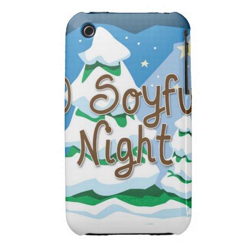 Noche del navidad O Soyful iPhone 3 Fundas