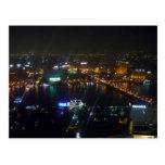 noche del Nilo del río de El Cairo Tarjeta Postal