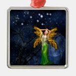 Noche del ornamento colgante cuadrado del Faery Adorno Para Reyes