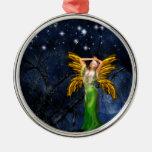 Noche del ornamento redondo del Faery Ornamentos De Reyes Magos