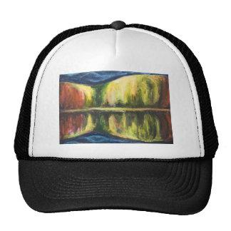 Noche del otoño pintura de paisaje abstracta gorras de camionero