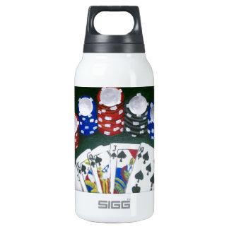 Noche del póker botella isotérmica de agua