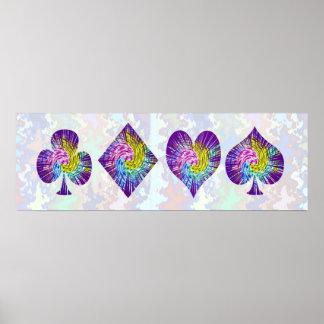 Noche del PÓKER: Clubs del corazón n del diamante  Impresiones