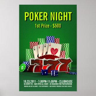 Noche del póker - poster