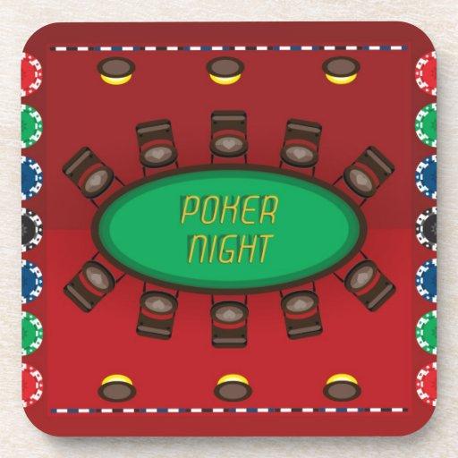 Noche del póker - tabla - práctico de costa posavasos de bebidas