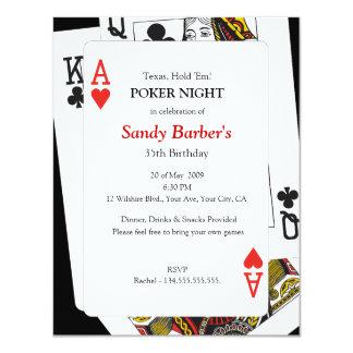 Noche del póker - Tejas los sostiene invitación