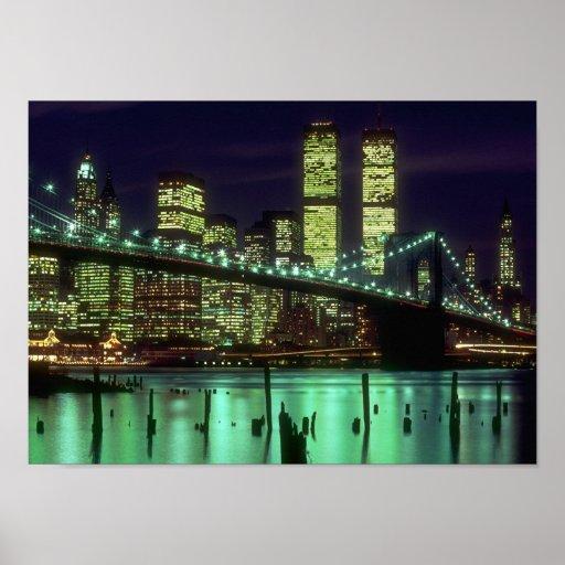 Noche del puente de Brooklyn @ Póster