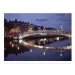 Noche del puente de Irlanda Dublín (St.K) Tarjeta Postal