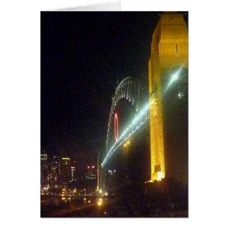 noche del puente de o tarjeta de felicitación