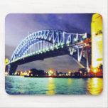 noche del puente de puerto de Sydney Tapete De Ratones