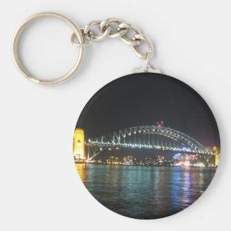 noche del puerto de Sydney Llavero Redondo Tipo Pin