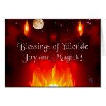 Noche del solsticio tarjeta de felicitación