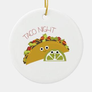 Noche del Taco Adorno Navideño Redondo De Cerámica