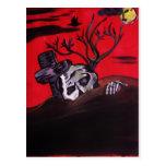 Noche del zombi tarjeta postal