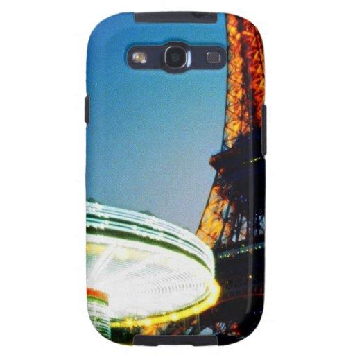 Noche dos de Eiffel Galaxy S3 Protectores