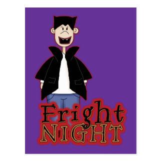 Noche Drácula Halloween del susto Postal