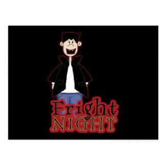 Noche Drácula Halloween del susto Tarjeta Postal