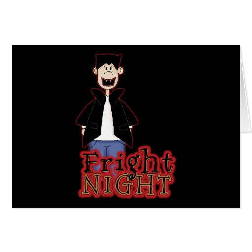 Noche Drácula Halloween del susto Tarjeton