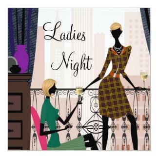 """Noche elegante de las señoras hacia fuera invitación 5.25"""" x 5.25"""""""
